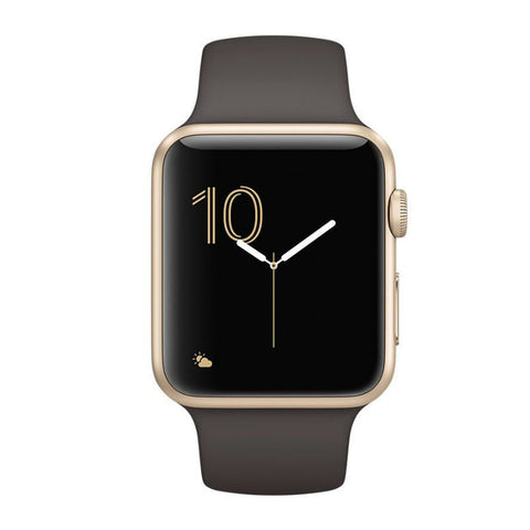 Apple Watch 42mm Oro Alluminio Cassa con Cocoa Sport Bea MNNN2 (Oro Marrone)