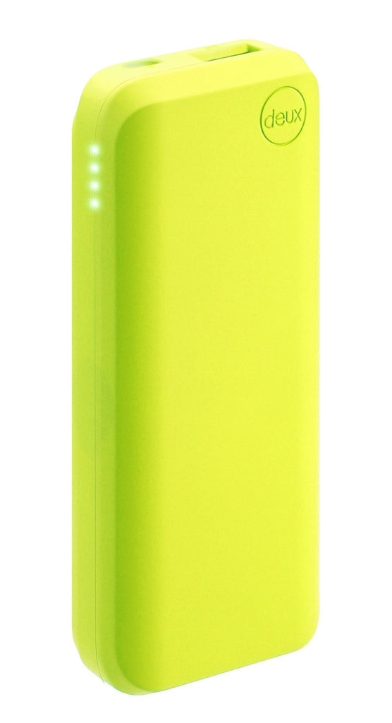 Amuse Deux 6000 mAh Polymer Power Bank (Neon Lime) - MobiCity Italia