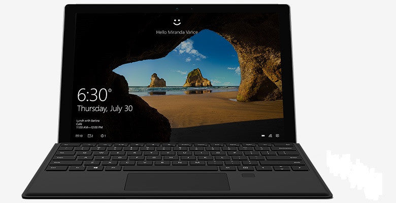 Microsoft Surface Pro 4 Windows 10 Pro Intel Core i5 128GB Wi-Fi (9PY-00007) con (R9Q-00064) Tastiera Nero - MobiCity Italia