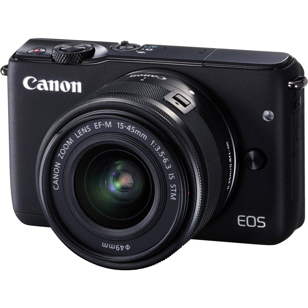 Canon EOS M10 con EF-M 15-45mm f/3.5-6.3 IS STM Lens Nero Digital SLR Camera - MobiCity Italia