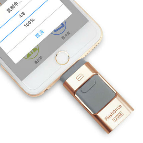 Flash Drive per iPhone/iPad/iPod 64GB (Oro) - MobiCity Italia