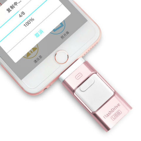Flash Drive per iPhone/iPad/iPod 64GB (RosaOro) - MobiCity Italia