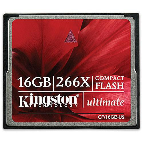 Scheda Di Memoria Kingston 16GB Compact Flash Ultimate 266X - MobiCity Italia