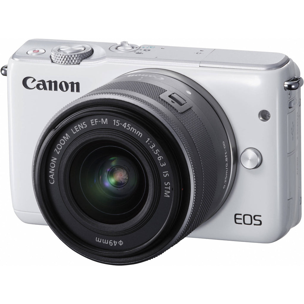 Canon EOS M10 con 15-45mm e 55-200 Bianco Digital SLR Camera