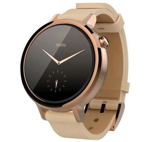 Motorola Moto 360 2nd Generation 42mm Smart Watch (Custodia Oro Rosa) - MobiCity Italia