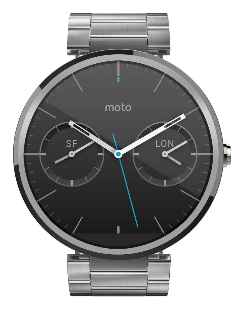 Motorola Moto 360 Smart Watch (Argento Cassa in Metallo)