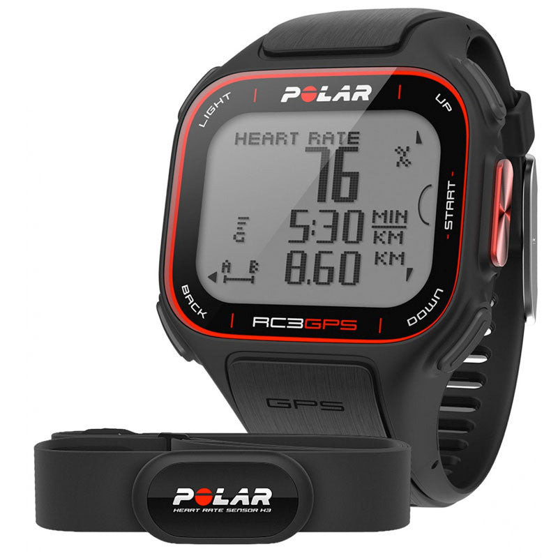 Polar Running e Multisport RC3 90051072 con Frequenza Cardiaca Sensore GPS Sports Watch (Nero) - MobiCity Italia