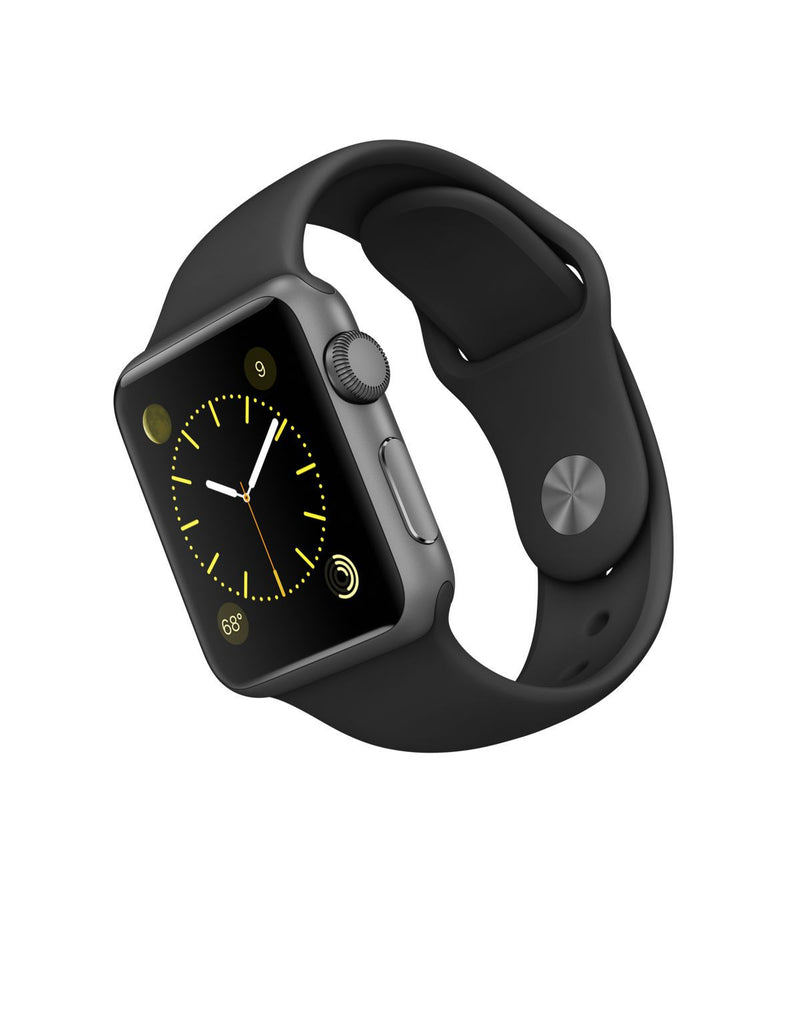 Apple Watch Sports 38mm Alluminio Case Nero Sport Band MJ2X2LL/A (Grigio)