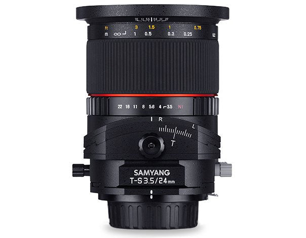 Samyang 24mm f/3.5 ED AS UMC Tilt-Shift Lenti per Canon