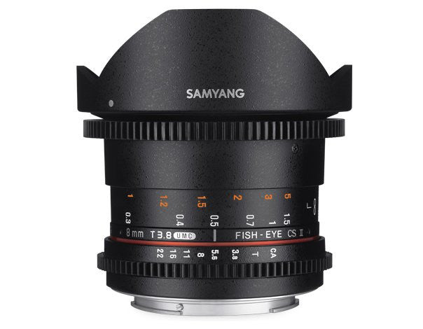 Samyang 8mm T3.8 UMC VDSLR Fish-Eye CS II Lenti per Canon