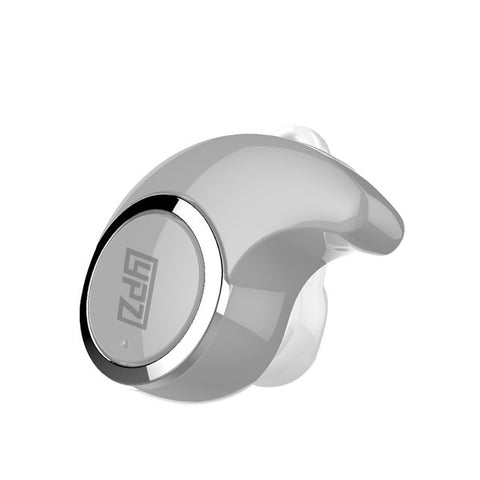 Hanging In-Ear Mini Wireless Blutooth Cuffie con Microfono (Argento) - MobiCity Italia