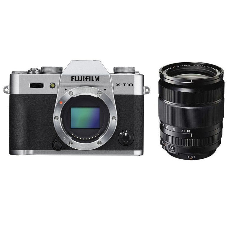 Fujifilm X-T10 Kit con 18-135mm Mirrorless Camera Digitale Argento