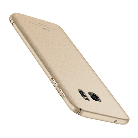 Classic Rock Sand Surface Gezicht Shield Telefoon Shell voor Samsung S7 (Champagne)