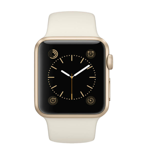 Apple Horloge Sport 38mm Goud Aluminum Case MLCJ2 (Wit)