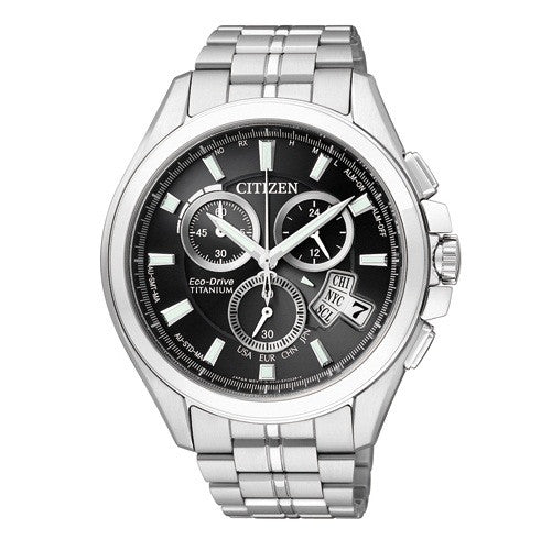 Citizen Eco-Drive Attesa Atomic Global Radio Duratect BY0020-59E (ATD53-3011) Horloge (Nieuw met Labels)