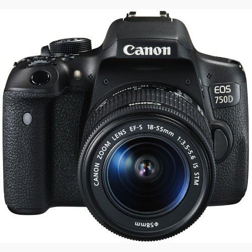 Canon EOS 750D met EF-S 18-55mm f/3.5-5.6 IS STM Lens Zwart Digitale SLR Camera