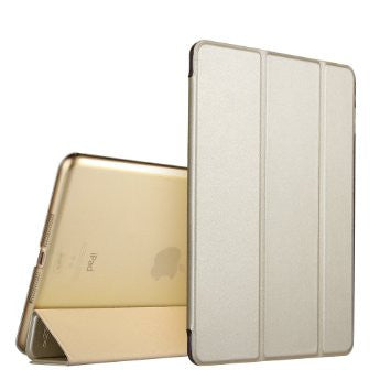 iPad Mini 4 Flip Cover met Soft Silicon Edge, harde achterzijde (Champagne)