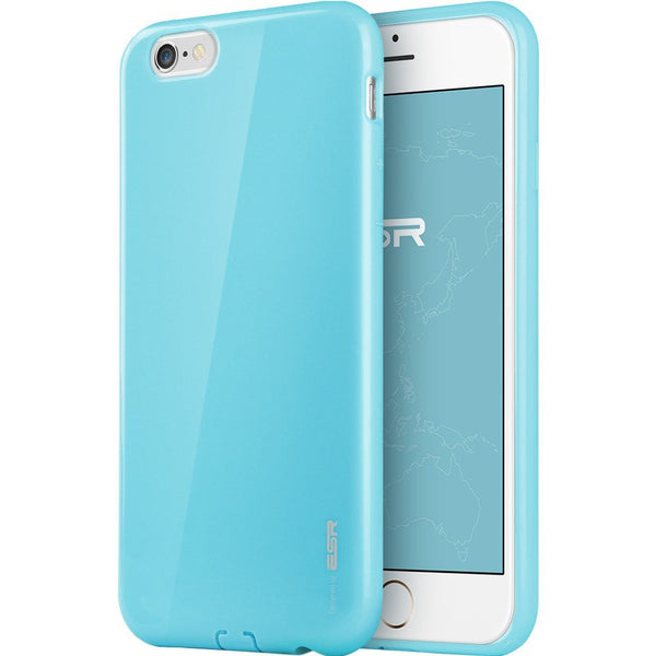 iPhone 6/6s Plus Silicon Color Case (Breeze Blauw)