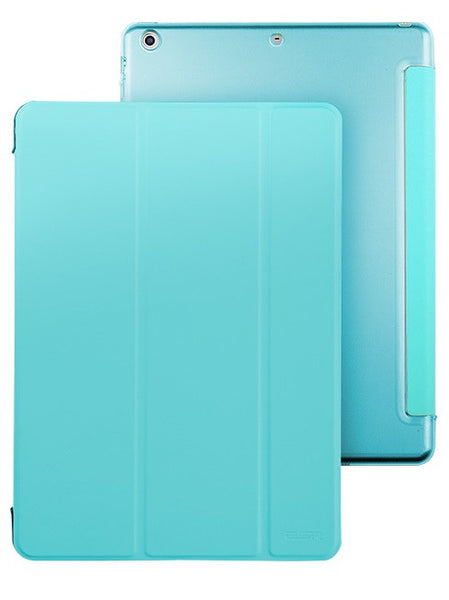 iPad Mini 1,2,3 Flip Cover met Harde achterzijde (Breeze Blue)