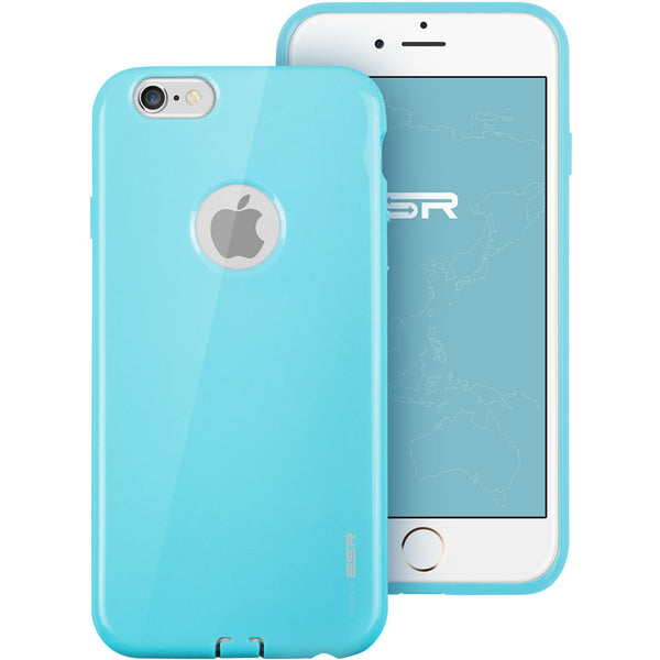 iPhone 6/6s Silicon Color Case (Breeze Blauw)