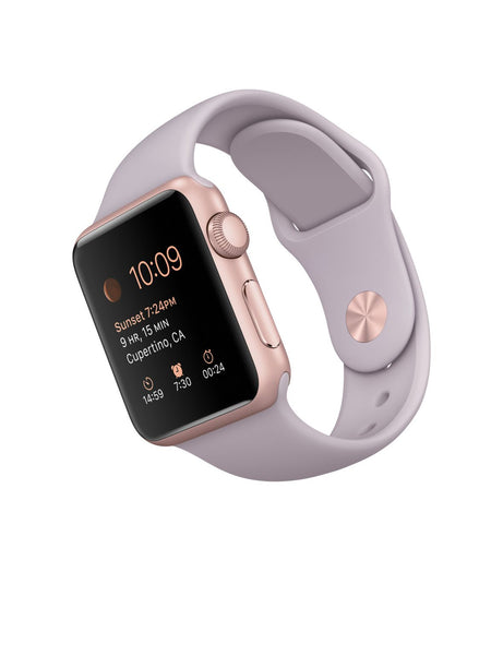 Apple Horloge Sport 38mm Rose Gold Aluminum Case MLCH2 (Paars)