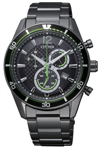 Citizen Eco-Drive Chronograph Sports AT2115-52E reloj (nuevo conTags)
