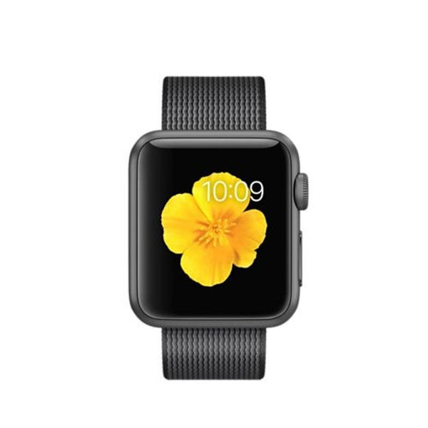 Apple Watch Deportivo 38mm Carcasa de Aluminio Gris Espacio con Correa de Nailon Tejida MMF62 (Black)