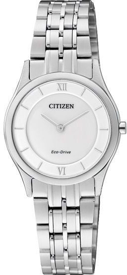 Citizen Eco-Drive Analog Dress EG3220-58A reloj (nuevo conTags)