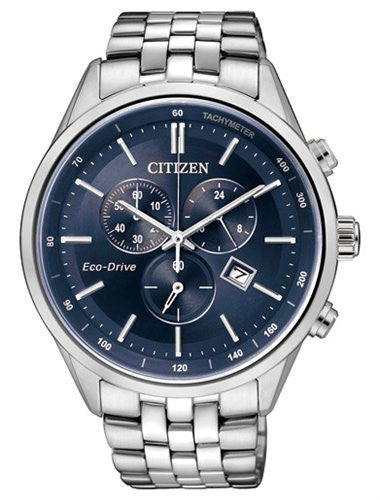 Citizen Eco-Drive Chronograph AT2140-55L reloj (nuevo conTags)