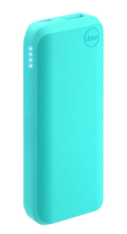 amuse Deux 6000 mAh Polymer Power Bank (Aqua azul)
