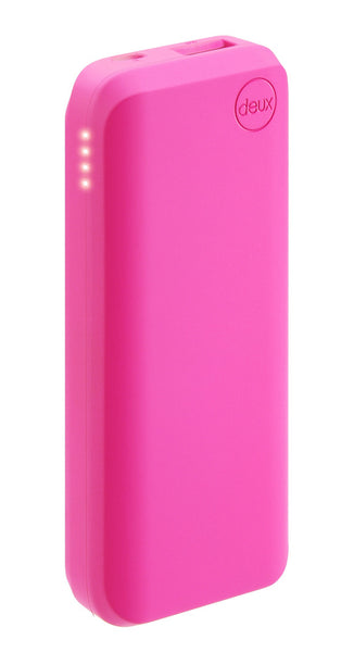 amuse Deux 6000 mAh Polymer Power Bank (Shocking rosado)