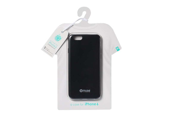 amuse Wear the iPhone 6 Series TPU Caso (Matte Negro)