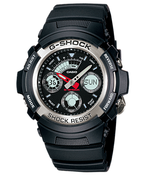 Casio G-Shock Estándar Analog Digital AW-590-1A reloj (nuevo with