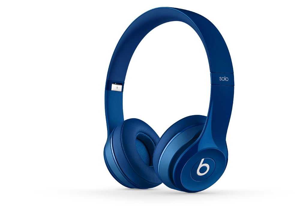 Beats Solo2 azul en la oreja Headphone