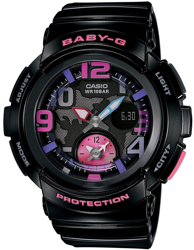 Casio Baby-G Analog-Digital BGA-190-1B reloj (nuevo conTags)