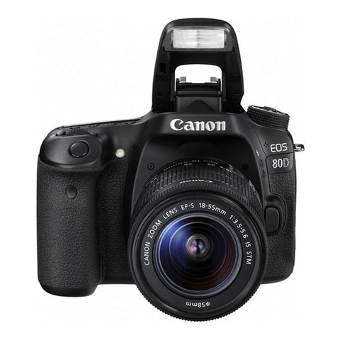 Cámara Digital SLR Canon EOS 80D con EF-S 18-55mm f/3.5-5.6 IS STM Lens Negro