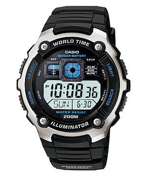 Casio Sports Digital AE2000W-1AV reloj (nuevo conTags)