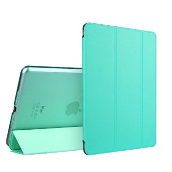 iPad Mini 4 Flip Cover conSoft silicio Edge trasera dura Caso (Emerald
