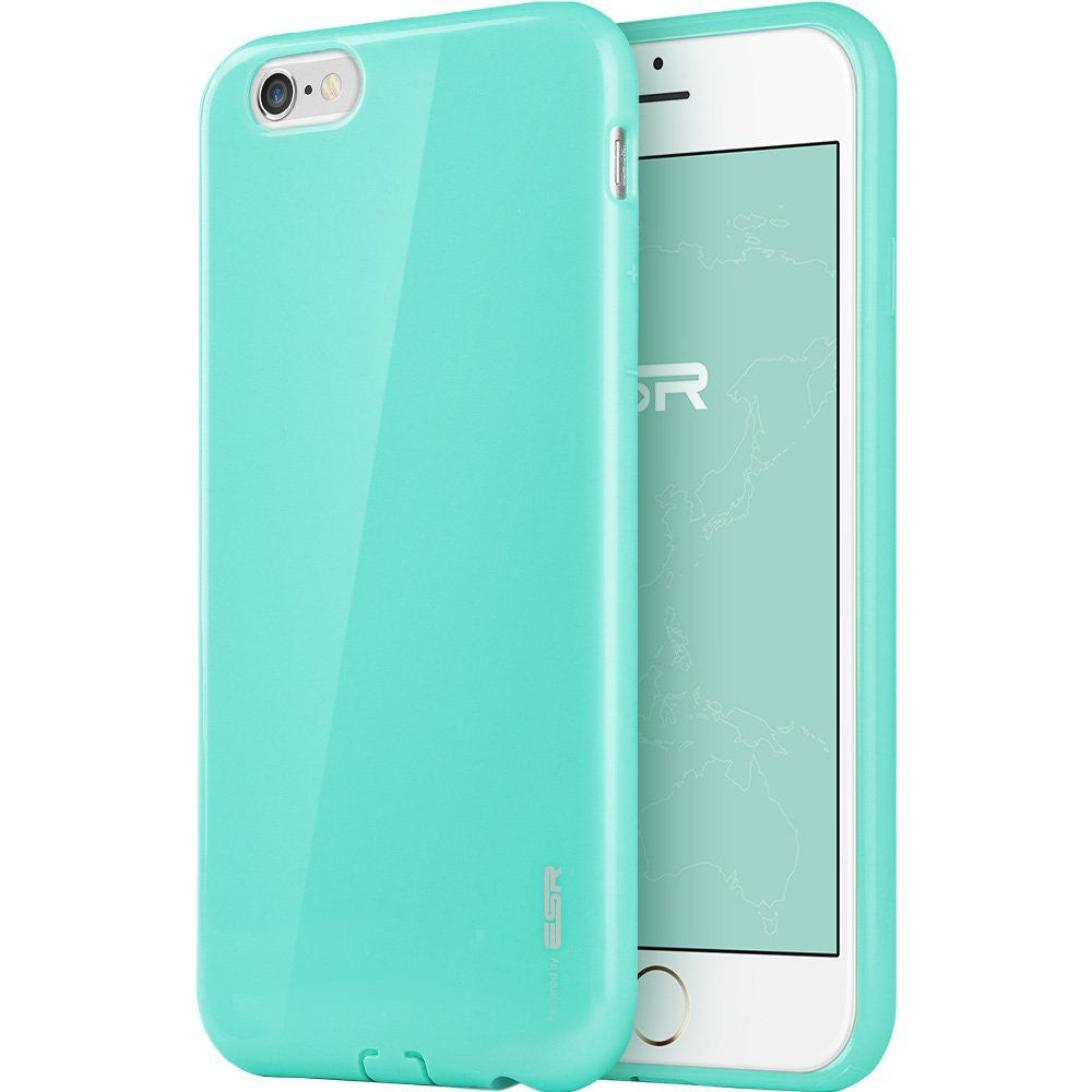 iPhone 6/6s Plus silicio Color Caso (Mint verde)
