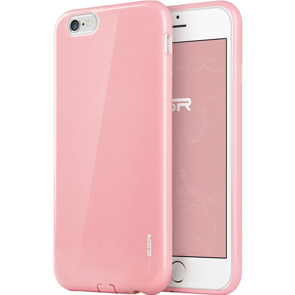 iPhone 6/6s Plus silicio Color Caso (Peach rosado)