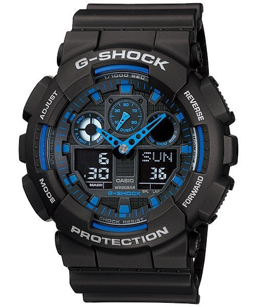 Casio G-Shock Estándar Analog-Digital GA-100-1A2 reloj (nuevo With