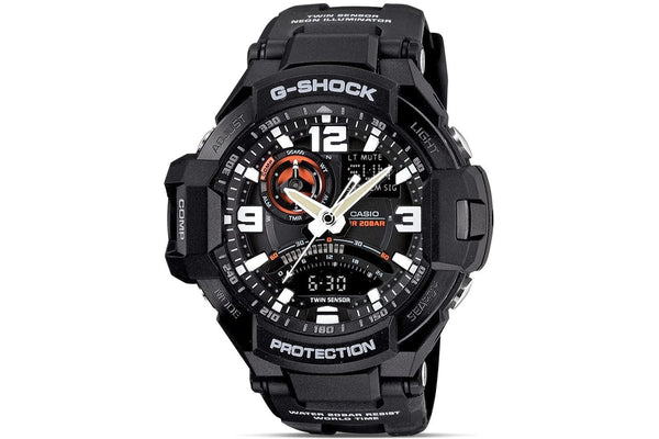 Casio G-Shock G-Aviation GA-1000-1A reloj (nuevo conTags)