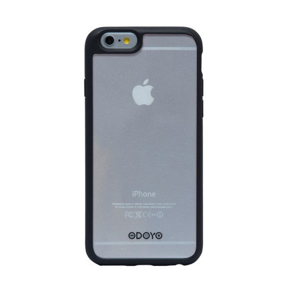 Odoyo Carcasa Protectora con Borde Antiresbalante para iPhone 6S PH3321 (Negro Grafito)