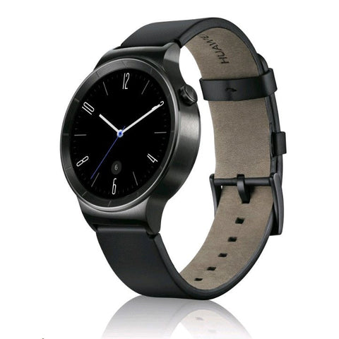Huawei Negro Leather Smart reloj (Negro Caso)