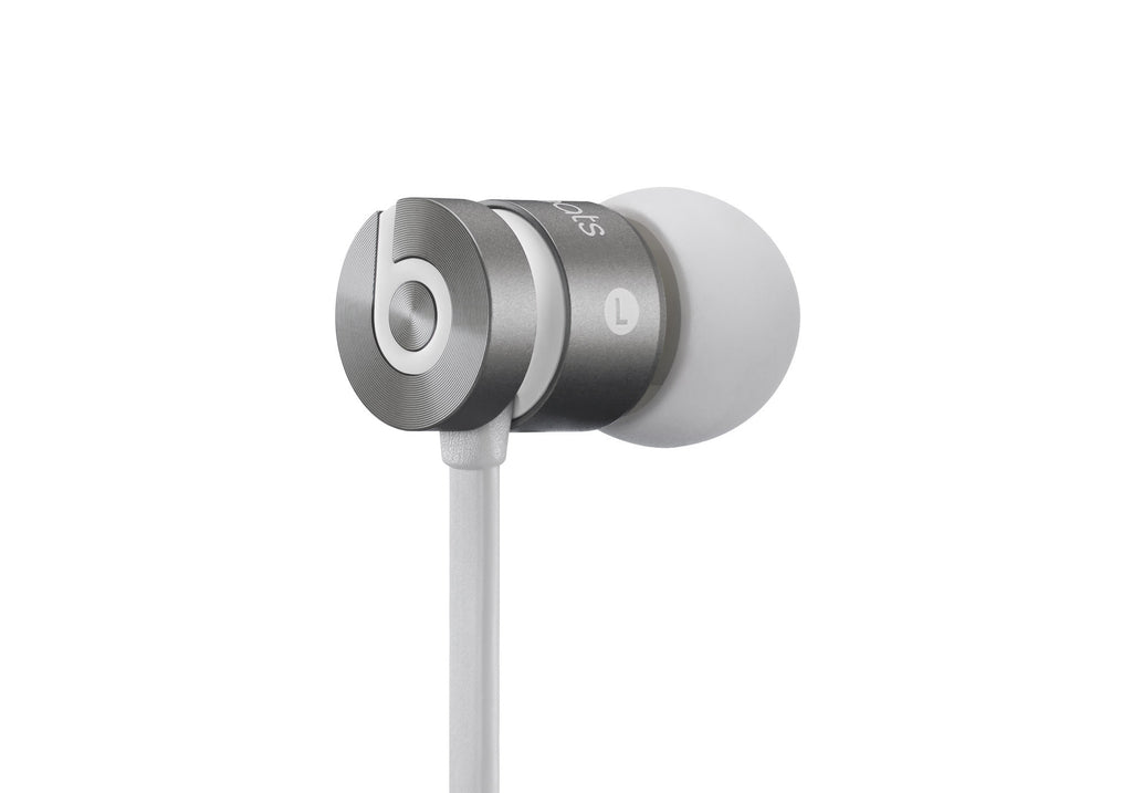 Beats urBeats gris en el oido Headphone
