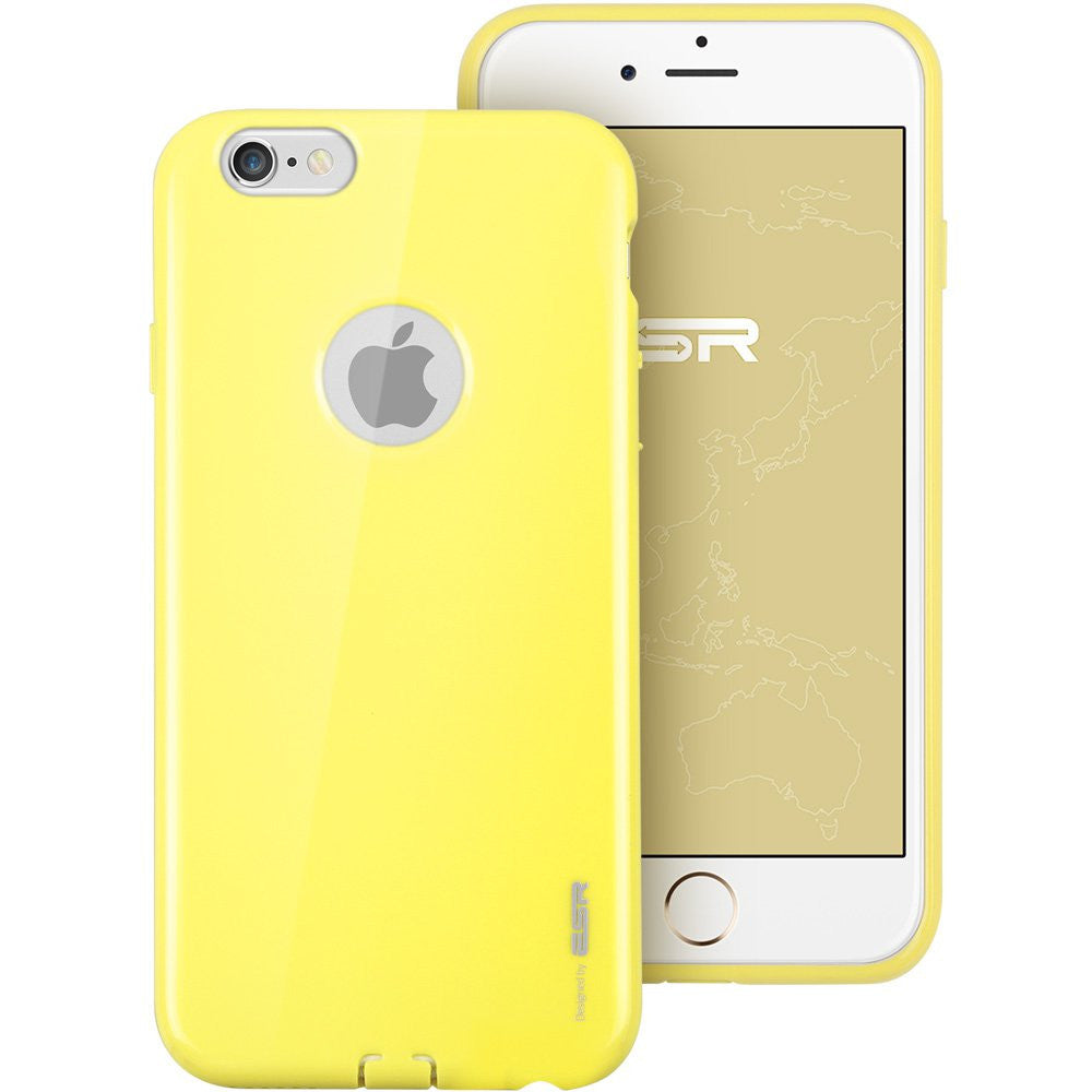 iPhone 6/6s silicio Color Caso (Vibrant Amarillo)