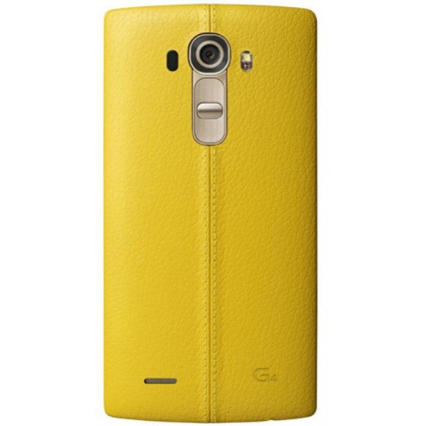 LG Genuine Leather CPR-110 Back Cover para adaptarse LG G4 (Amarillo)
