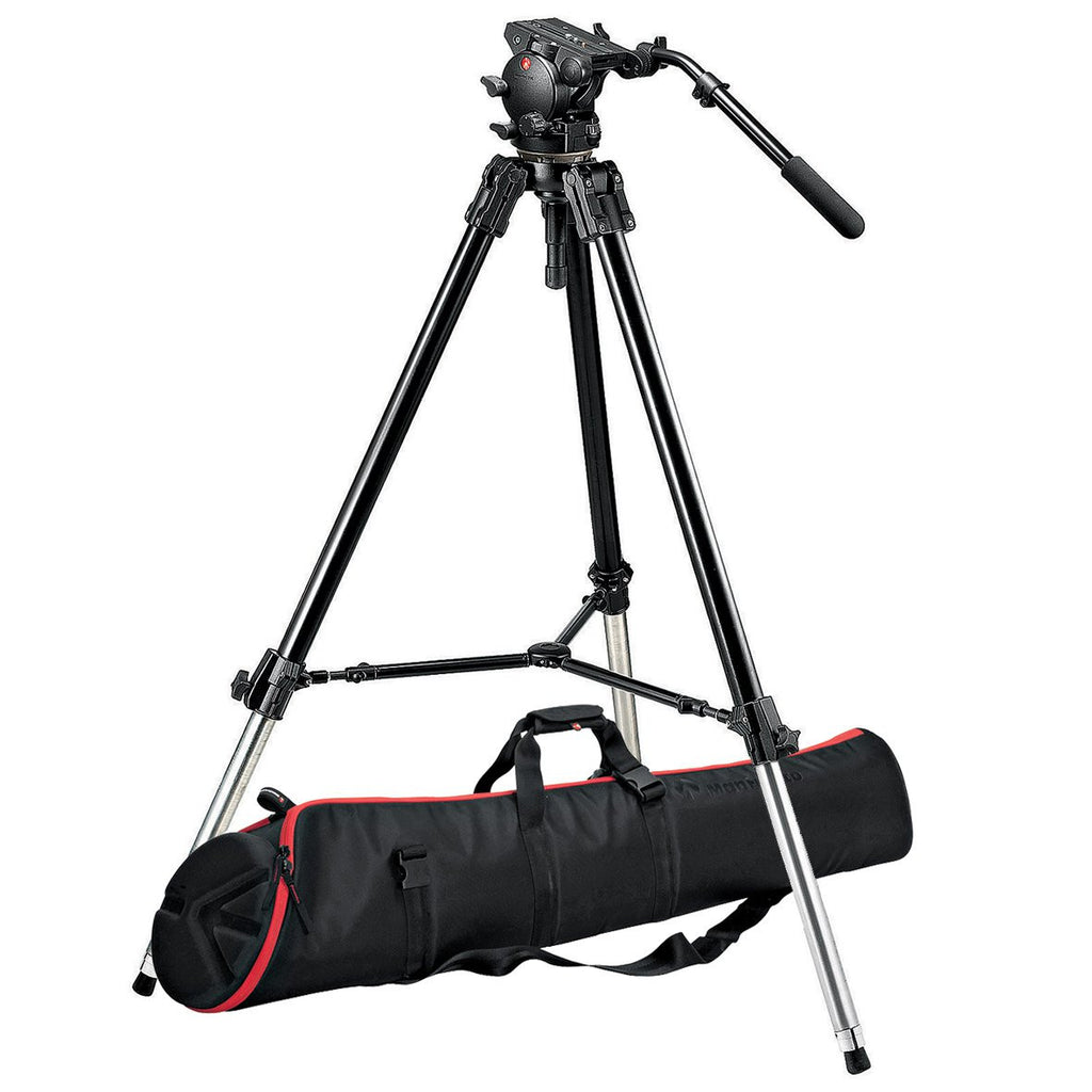 Manfrotto 526,528XBK trípode Kit con526 Heady MBAG120P Bag