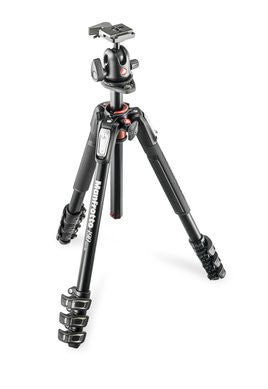 Manfrotto MK190XPRO4-3WCN 190 Aluminum 4 Section Kit con3 Way Head