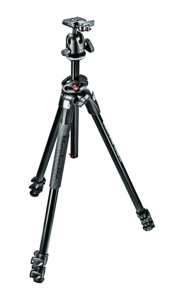 Manfrotto MK290DUA3-BH 290 Dual Kit, Aluminum 3 section trípode with